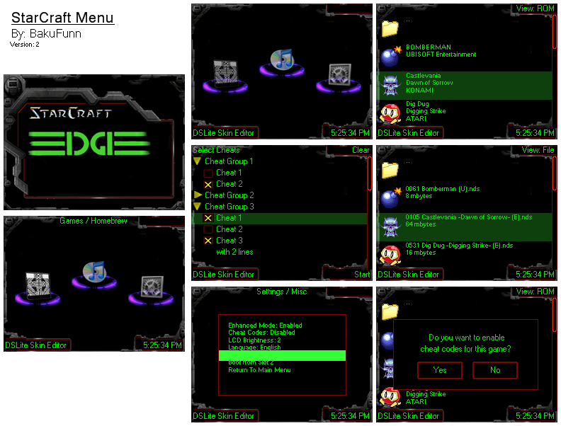Thumbnail 1 for StarCraft Edge/Cyclo Menu
